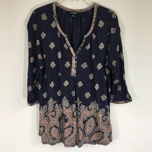 Lucky Brand Peasant Blouse